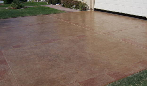 Driveway Stained Concrete McKinney TX