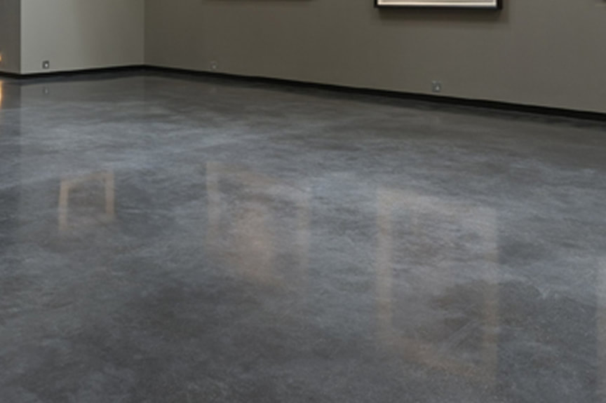 Commercial Office Building Polished Concrete Floors Frisco