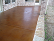 Backyard Patio Stained Concrete The Colony Texas