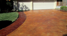 Stamped Concrete Driveway Stained Sealed Carrollton Texas